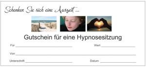 Gutschein Hypnosesitzung
