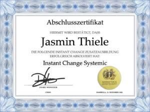Instant Change Systemic Zertifikat Jasmin Thiele